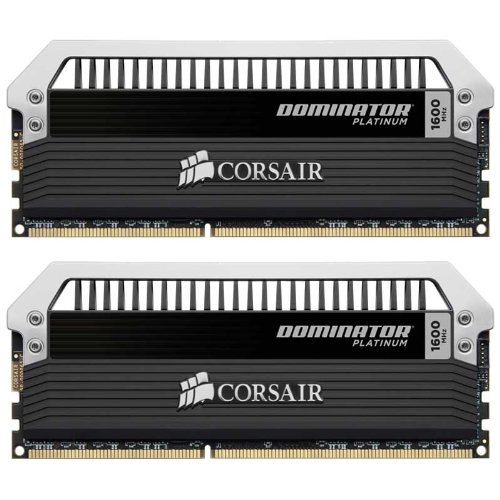 Corsair CMD16GX3M2A1600C9 Dominator Platinum Memoria per Desktop di Livello Enthusiast da 16 GB (2x8 GB), DDR3, 1600 MHz, CL9