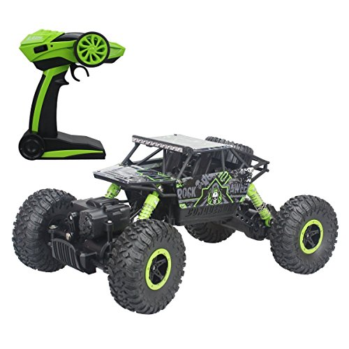 PIPIHUA 2.4Ghz 1/18 RC Rock Crawler Vehicle Toy 4 WD Fast Race Monster Off-Road Truck (Green) (Car Remote Control Gasoline compare prices)