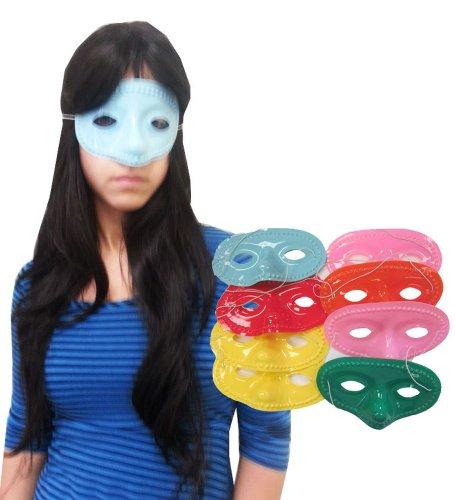 [Assorted Color Eye Masks - Simple Half Face Masks In Assorted Colors] (Simple Halloween Masks)