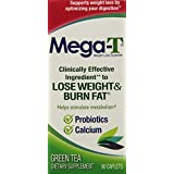 Mega-T Dietary Supplement Green Tea Extract Caplets, 90-Count Bottle (Pack of 2)