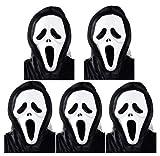 【コスプレ】Madrugadaみんなでスクリーム!!死神マスク5個セットハロウィンコスプレ仮装演出衣装コスチュームパーティーグッズS115(5個セット)