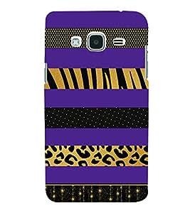 Blue Zebra Tiger Lines 3D Hard Polycarbonate Designer Back Case Cover for Samsung Galaxy J3 (6) J320F :: Samsung Galaxy J3 (2016)