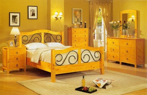 Solid Pine Full Size Bedroom Set