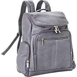 Le Donne Leather LD-4020-Gray Laptop Backpack