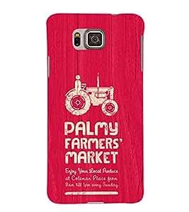 EPICCASE the farmer Mobile Back Case Cover For Samsung Galaxy Alpha (Designer Case)