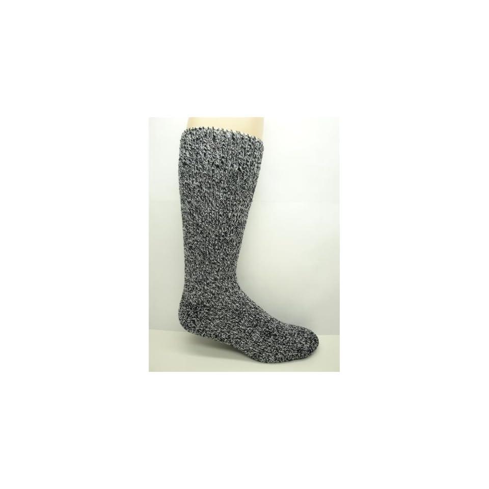 Mens Heavy Duty  35 Below Winter / Thermal Wool Socks (2 Pairs) (Salt & Pepper) Fits Shoe Size 8 12