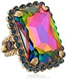 "Sorrelli ""Aurora Sky"" Luxurious Emerald-Cut Cocktail Ring"