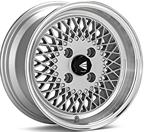 15x7 Enkei ENKEI92 (Silver w/ Machined Lip) Wheels/Rims 4x100 (465-570-4938SP)