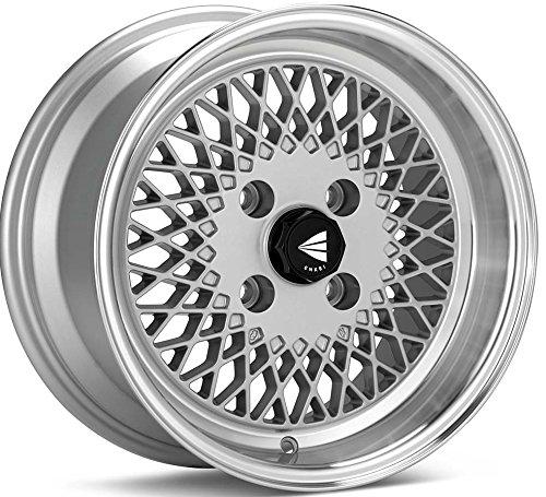 15x7 Enkei ENKEI92 (Silver w/ Machined Lip) Wheels/Rims 4x100 (465-570-4938SP) (Miata Rims compare prices)