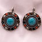 Multistone Turquoise Earrings
