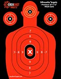 Premium Silhouette Targets at Ridiculously Low Prices (Get 150 FREE Target Repair Stickers) High-Visibility Fluorescent Orange, Paper Shooting Targets for Firearms Marksmanship, Easy to See Shots, Multi-Zone, 100%.