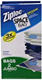"Space Bag, 2 Jumbo Vacuum Seal Storage Bags, Each, Clear, (35"" X 48"")"