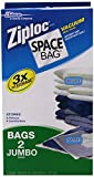 "Space Bag # BR5420-6 Vacuum Seal Clear Storage Bags, Set of 2 Jumbo Bags  (35"" X 48"")"