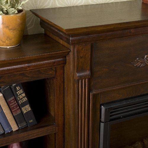 SEI Tennyson Electric Fireplace with Bookcases, Espresso