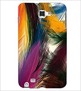 PrintDhaba Feathers D-2192 Back Case Cover for SAMSUNG GALAXY NOTE 1 (Multi-Coloured)