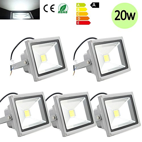 Hengda-5-Stck-20W-SMD-LED-Strahler-Fluter-IP65-Auen-Flutlicht-Leuchtmittel-Scheinwerfer-kaltweiss-Wei-Wandstrahler