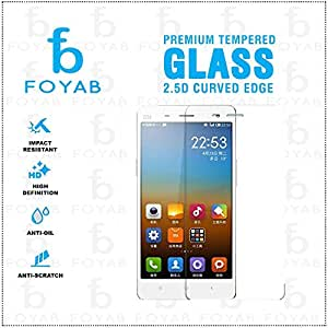 FOYAB Xiaomi MI4 High Quality Tempered Glass [3D Touch Compatible- Tempered Glass] 0.2mm Screen Case Protection 99% Touch Accurate Fit (Clear,Comes with Warranty)