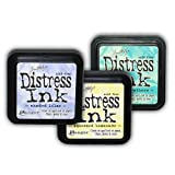 Tim Holtz Distress Rubber Stamp Ink Pad Set - 3 Spring Colours