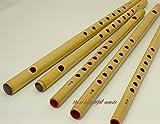 【お祭り・お囃子用 篠笛】入門用 篠笛 無地【7穴4本調子】