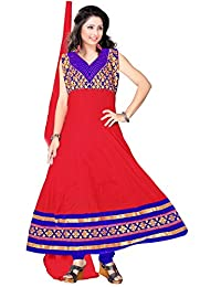 Red Apple Readymade Anarkali Dress With Exclusive Design - B01B4MP6Z6