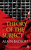 Theory of the Subject (1441159592) by Badiou, Alain