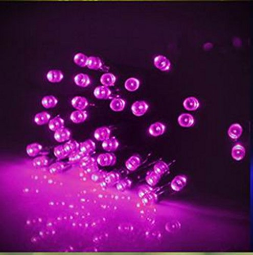 Niutop® Waterproof 200 Led Solar Powered String Fairy Lights (Pink), 21M/68.9Ft, Flesh Ambiant Guiding Lights, For Indoor/Outdoor Decoration- Patio, Garden, Lawn, Porch; Home, Bar Restaurant; Christmas Trees, Wedding, Valentine'S Day Party