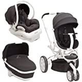 Quinny Moodd Stroller Travel System, Black Irony with Bassinet