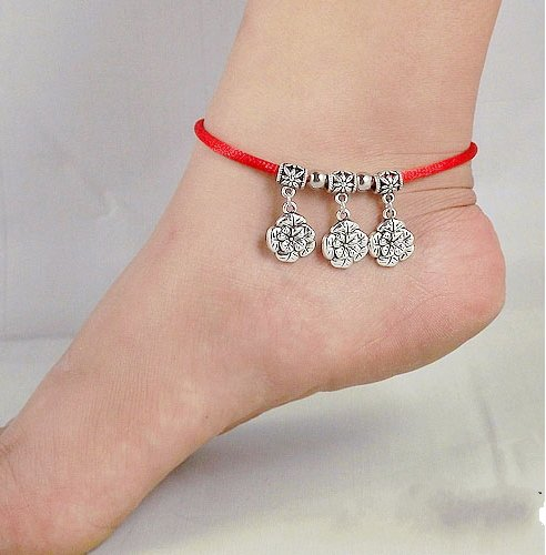 Tibetan Silver Sterling Silver Bangle Anklet Chain Bracelet Jewellery Quality Style NO.3008