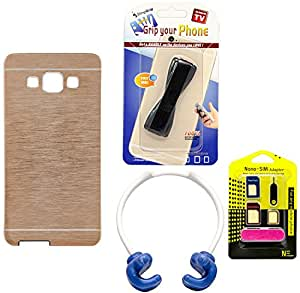 Mify Mobile Accessories Combo for Samsung Galaxy E7, Golden
