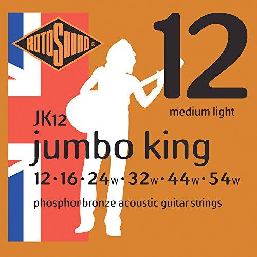 Rotosound Jumbo King Jeu de cordes pour guitare folk Bronze phosphoreux Tirant...