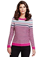 Per Una Fair Isle & Striped Knitted Top