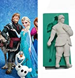Yunko Kristoff Frozen Sparkle Silicone Fondant Mold Chocolate Mold Cake Decorating Mold Candy Mold