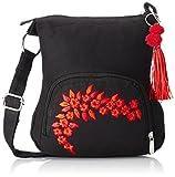 #7: Sling Bag Pick Pocket Women's Sling Bag (Black,Slblkremb24)