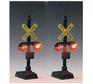 Amazon.com: Model Power HO Scale Railroad Crossing Signal ...