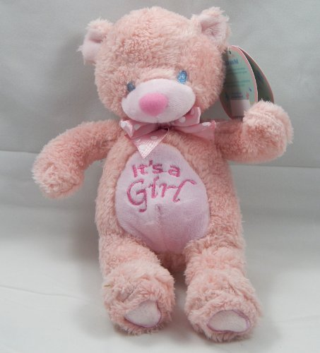 "It's a Girl Pink Bear/Baby Announcement/Newborn Gift/New Parents/10"" Plush Teddy/Keepsake/Baby's First Toy/2803 - 1"