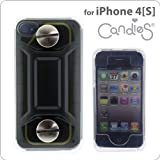 [SoftBank/au iPhone 4S/4専用]Candies 防水ケースWaterProof Case(BLACKブラック)