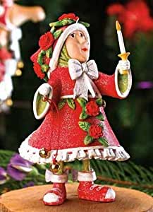 """4.5"""" Patience Brewster Krinkles Donna's Light Elf Christmas Ornament"""