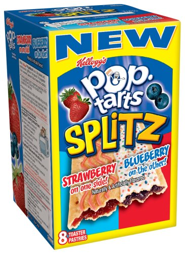 Buy Kellogg's Pop-Tart's Splitz Strawberry Blueberry, 14.1-Ounce, 8-Count Boxes (Pack of 12) (Pop-Tarts, Health & Personal Care, Products, Food & Snacks, Breakfast Foods, Toaster Pastries)
