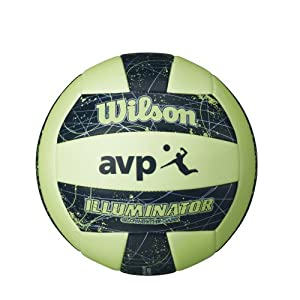 Buy Wilson AVP Illuminator Glow In the Dark Outdoor Volleyball by Wilson