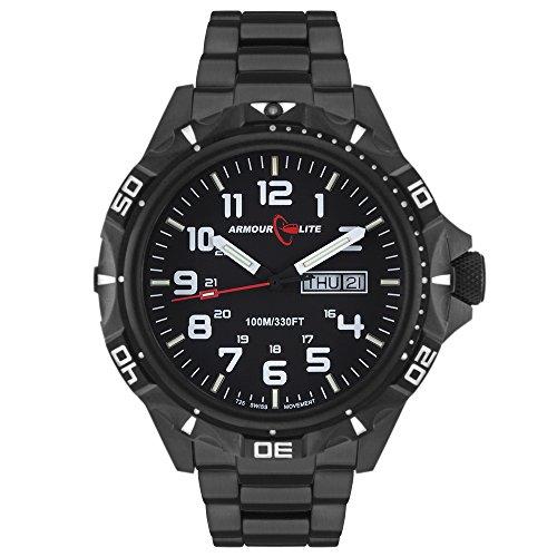Armourlite-Professional-Series-AL1402-Black-Steel-Tritium-Watch