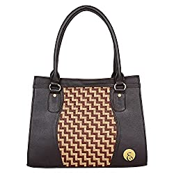 Ellen Women's Handbags Black Ellen -09 Black Brown Cream Matt