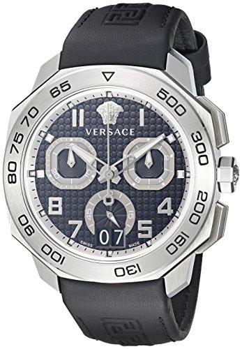 Versace-Mens-VQC010015-DYLOS-CHRONO-Analog-Display-Swiss-Quartz-Black-Watch