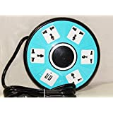 BERRY COLLECTION NEW HOT 5-Outlet With 2 USB Socket Creative Protector Power Socket Outputs 110V 10A Power Strip... - B073PBW2KQ
