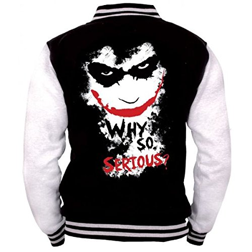 Batman Joker - Why So Serious? Giacca college nero/bianco L
