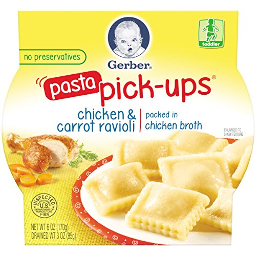 Gerber Graduates Pasta Pick-Ups Ravioli, Chicken and Carrot, 6 Ounce (pack of 8) (Gerber Pasta Pickups compare prices)