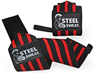 Wrist Wraps 18″ for Weight Lifting/Crossfit/Powerlifting By Steel Sweat – Premium Grade Heavy Duty…