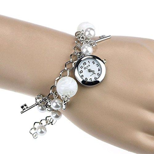 Coromose® Women Girl Quartz Charms Bracelet Wrist Watch image