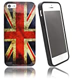 NWNK13® Ultra Slim Apple iPhone 4 / 4G / 4S UK Flag Union Jack Vintage Retro Soft Rubber Gel Case Cover With Matt Finish Bumper Plus Screen Protector & Polishing Cloth