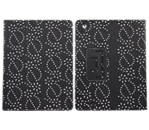 E4EMPORIUM PU Black Bling Diamond Leather Case Cover For Samsung Galaxy Note 10.1 P5100 Tablet + Stylus