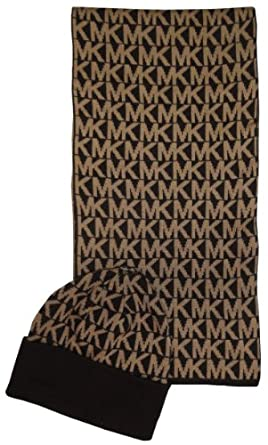 michael kors s 2 scarf and hat set chocolate